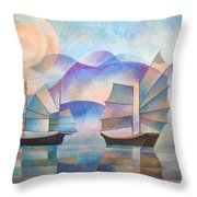 Shades Of Tranquility Throw Pillow by Tracey Harrington-Simpson