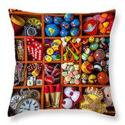 Shadow box collection Throw Pillow by Garry Gay