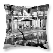 Shadows In Paradise Palm Springs Throw Pillow by William Dey