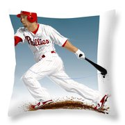 Shane Victorino Throw Pillow by Scott Weigner