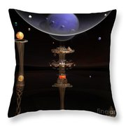 Shared Visions With Max Planck Throw Pillow by Peter R Nicholls