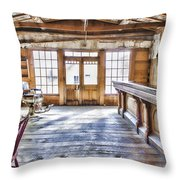 Shave And A Beer Throw Pillow by Fran Riley