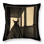 She Walks The Halls Throw Pillow by Barbara St Jean