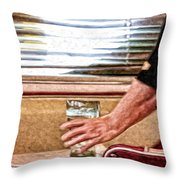 She Works Hard For The Money Throw Pillow by Lois Bryan