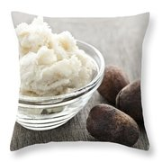 Shea Butter And Nuts  Throw Pillow by Elena Elisseeva