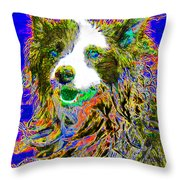 Sheep Dog 20130125v3 Throw Pillow by Wingsdomain Art and Photography