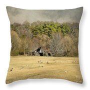 Sheep In The South Throw Pillow by Jai Johnson