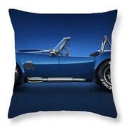 Shelby Cobra 427 - Water Snake Throw Pillow by Marc Orphanos