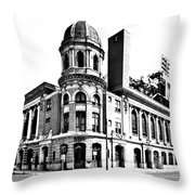 Shibe Park Throw Pillow by Benjamin Yeager