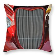 Shiny Red Throw Pillow by Marty Koch
