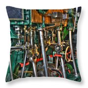 Ship Engine Throw Pillow by Heiko Koehrer-Wagner