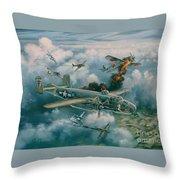 Shoot-out Over Saigon Throw Pillow by Randy Green