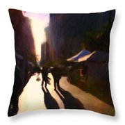 Shopping Stands Along Market Street At San Francisco's Embarcadero - 5d20841 Throw Pillow by Wingsdomain Art and Photography