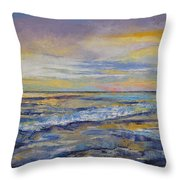 Shores Of Heaven Throw Pillow by Michael Creese