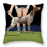 Show Day In Chestertown Throw Pillow by Marjorie Weiss