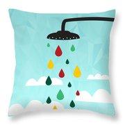 Shower  Throw Pillow by Mark Ashkenazi
