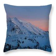 Shuksan Sunset Panorama Throw Pillow by Mike Reid