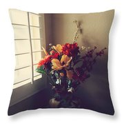 Shutters Throw Pillow by Laurie Search