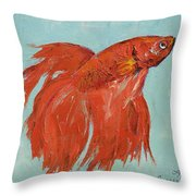Siamese Fighting Fish Throw Pillow by Michael Creese