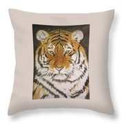 Siberian Tiger Throw Pillow by Regan J Smith