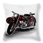 Sidecar Throw Pillow by Cheryl Young
