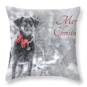 Sienna - Merry Christmas Throw Pillow by Lori Deiter