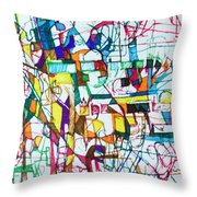 Silence Is Worth Double Throw Pillow by David Baruch Wolk