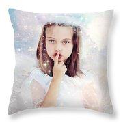 Silent Angel Throw Pillow by Stephanie Frey