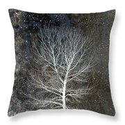 Silent Night Throw Pillow by Carol Leigh