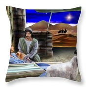 Silent Night Throw Pillow by Reggie Duffie