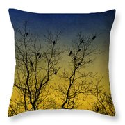 Silhouette Birds Sequel Throw Pillow by Christina Rollo