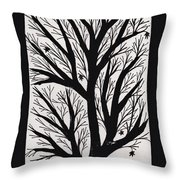 Silhouette Maple Throw Pillow by Barbara St Jean