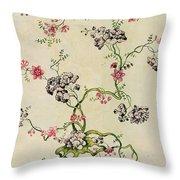 Silk Design Throw Pillow by Anna Maria Garthwaite