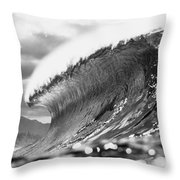 Silver Lining Throw Pillow by Sean Davey