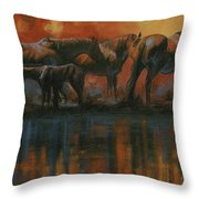 Simmerdim Throw Pillow by Mia DeLode