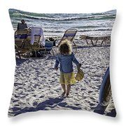 Simpler Times 2 - Miami Beach - Florida Throw Pillow by Madeline Ellis