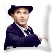 Sinatra.  Frank Sinatra Throw Pillow by Iconic Images Art Gallery David Pucciarelli