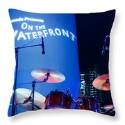 Singapore Drum Set 03 Throw Pillow by Rick Piper Photography