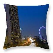 Singapore Evening Throw Pillow by Mountain Dreams
