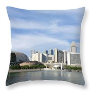 Singapore Waterfront Throw Pillow by Mountain Dreams