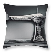 Singer Machine Throw Pillow by Kelley King