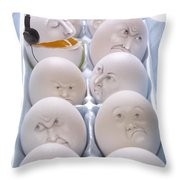 Singing Egg Throw Pillow by Diane Diederich
