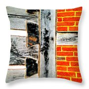 Single Brothers Joints Throw Pillow by Randall Weidner