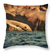 Siren Rocks II Throw Pillow by Taylan Apukovska