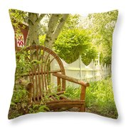 Sit For A While Throw Pillow by Margie Hurwich