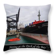 Sitting At The Dock Of The Bay Throw Pillow by Tikvah's Hope