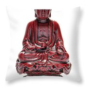 Sitting Buddha  Throw Pillow by Olivier Le Queinec