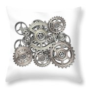 Sketch Of Machinery Throw Pillow by Michal Boubin