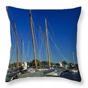 Skipjacks  Throw Pillow by Sally Weigand
