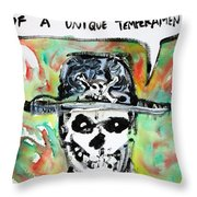 Skull Quoting Oscar Wilde.1 Throw Pillow by Fabrizio Cassetta